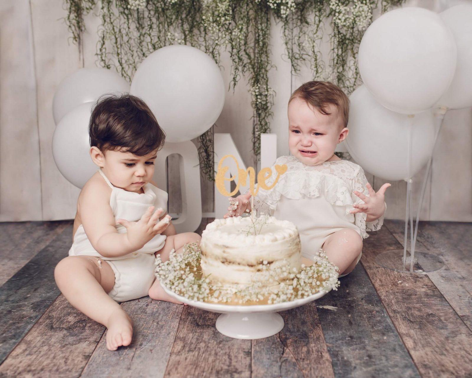 Cake smash photography in London