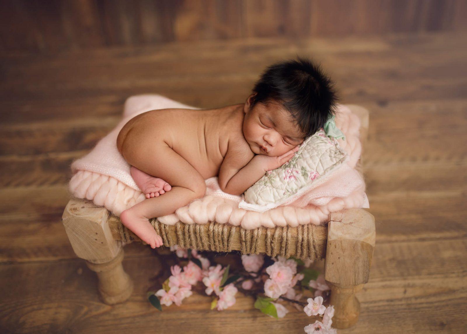 newborn on pure white